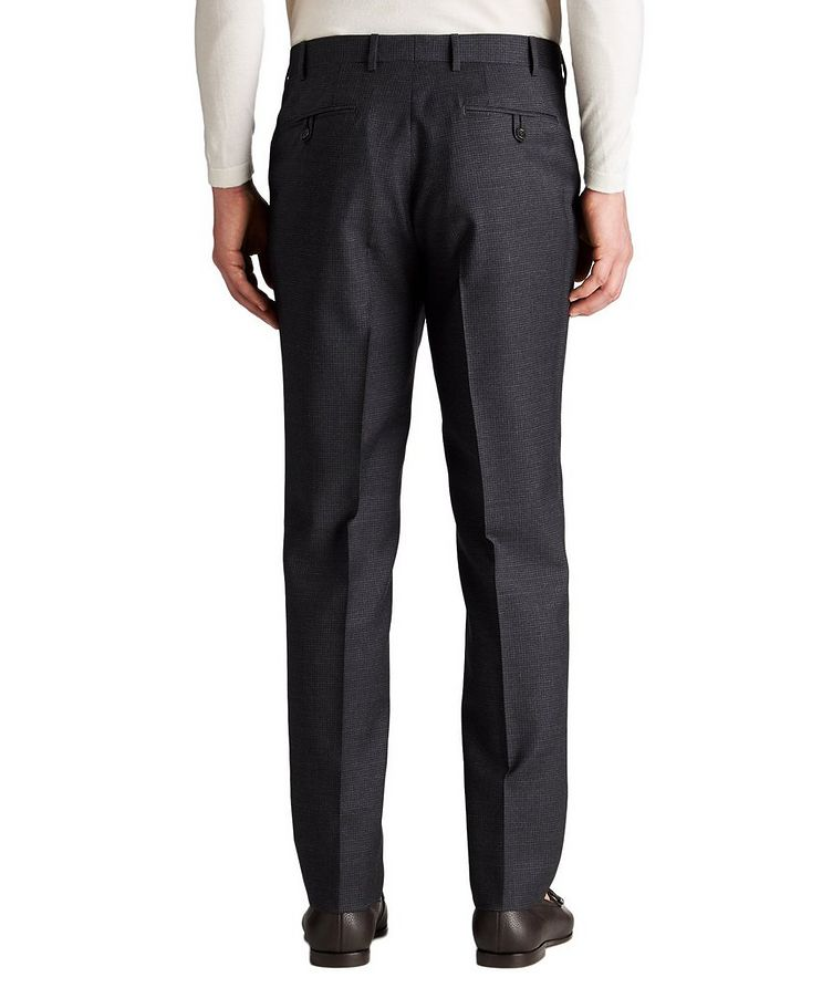 Slim Fit Checked Wool Dress Pants image 1