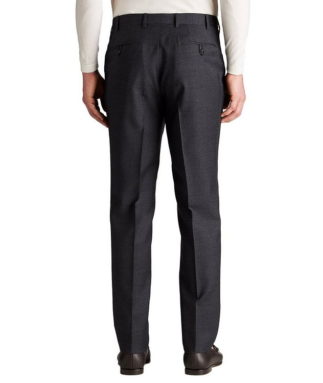 Slim Fit Checked Wool Dress Pants picture 2