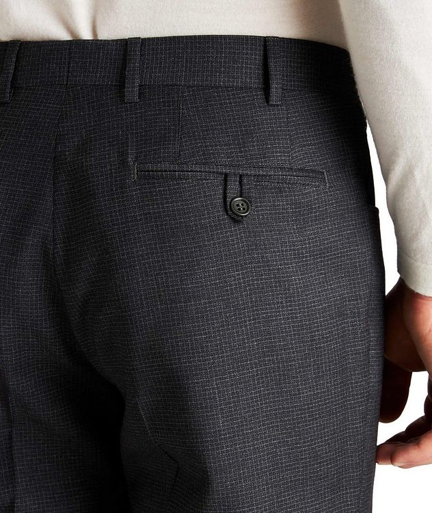 Slim Fit Checked Wool Dress Pants picture 3