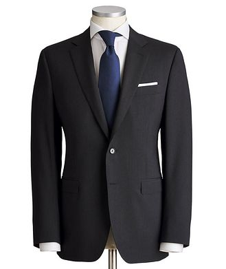 Canali Striped Textured Wool Suit