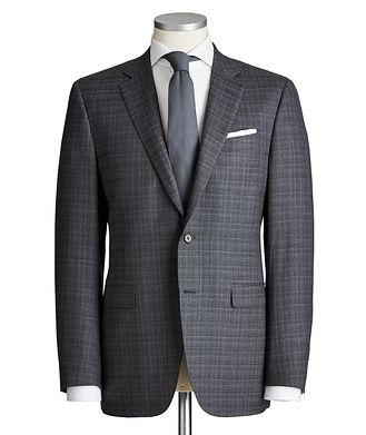 Canali Contemporary Fit Checked Wool Suit