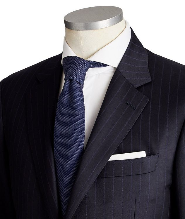 Contemporary Fit Pinstripe Wool Suit picture 2