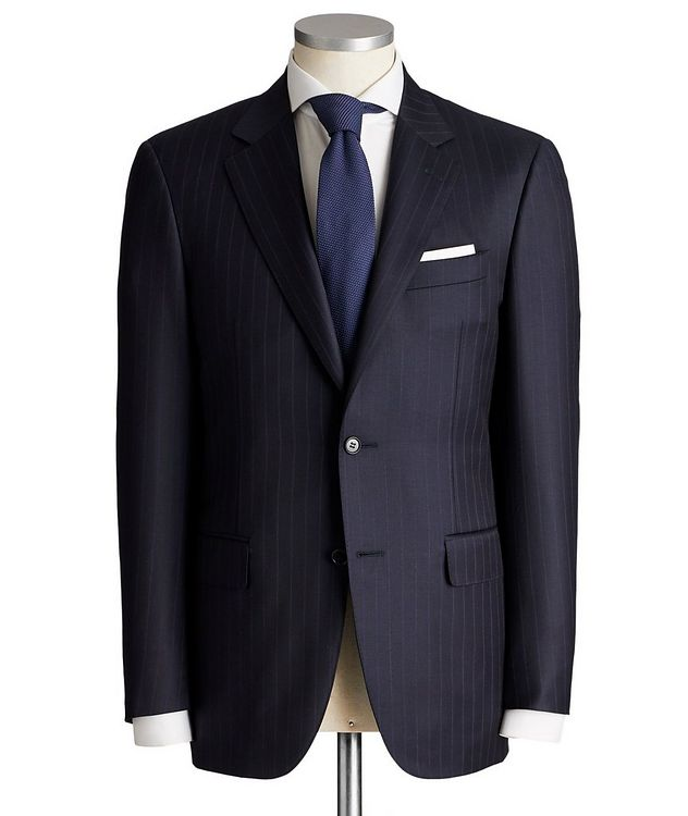 Contemporary Fit Pinstripe Wool Suit picture 1