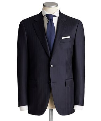 Canali Contemporary Fit Pinstripe Wool Suit