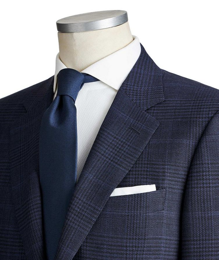 Impeccabile Contemporary Fit Checked Wool Suit image 1
