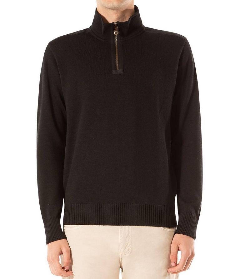 Cardigan en laine vierge à glissière image 0