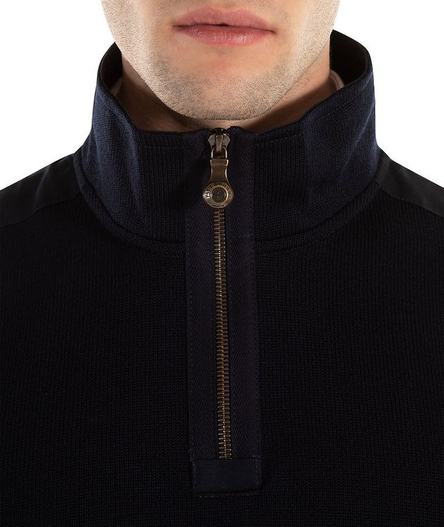 3-in-1 Half-Zip Virgin Wool Sweater picture 2