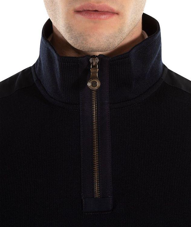 Cardigan en laine vierge à glissière picture 2
