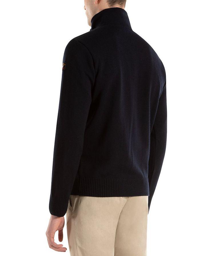 Cardigan en laine vierge à glissière image 2