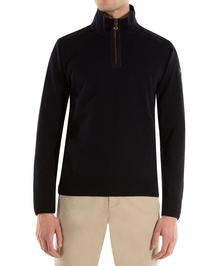 3-in-1 Half-Zip Virgin Wool Sweater image 0
