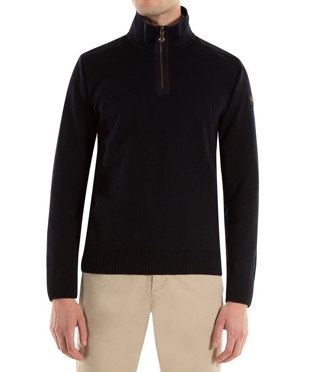 3-in-1 Half-Zip Virgin Wool Sweater picture 1