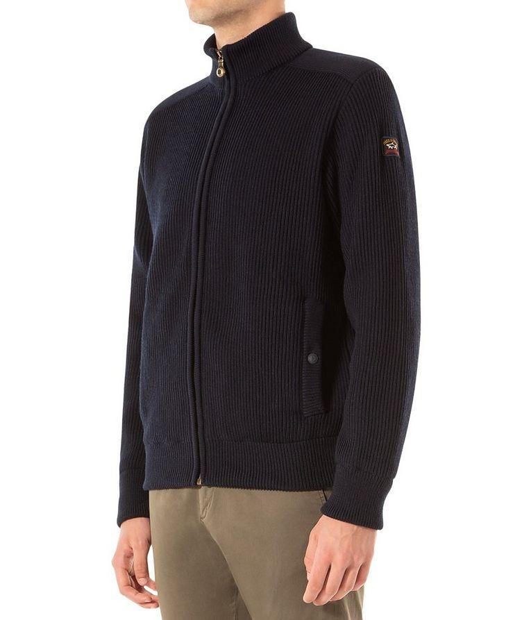 Zip-Up Virgin Wool Sweater image 1