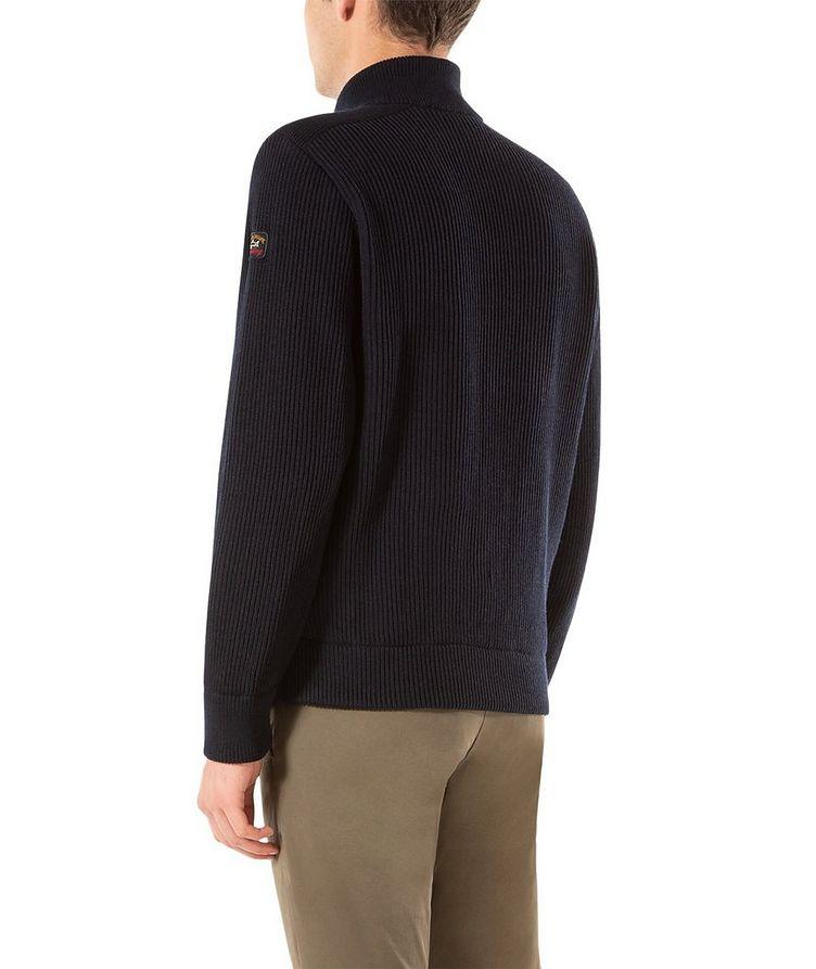 Zip-Up Virgin Wool Sweater image 2