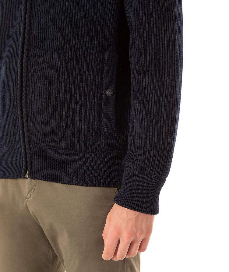 Zip-Up Virgin Wool Sweater image 3