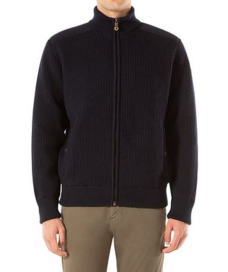 Paul & Shark Zip-Up Virgin Wool Sweater