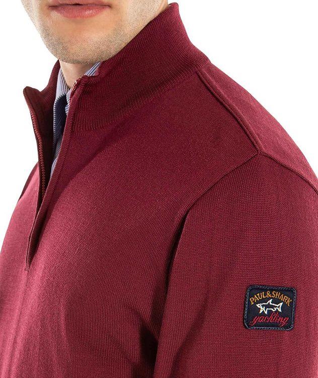 Pull en laine vierge à demi-glissière picture 5