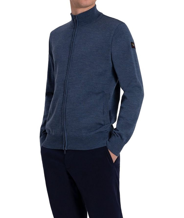3-in-1 Zip-Up Virgin Wool Cardigan image 1