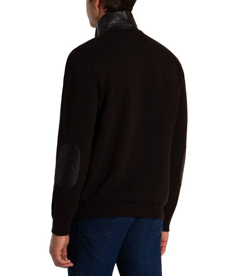 Zip-Up Wool & Lambskin Sweater image 1
