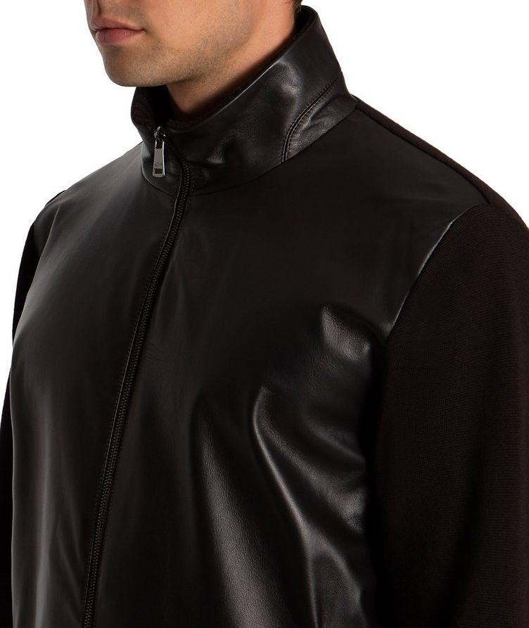 Zip-Up Wool & Lambskin Sweater image 3