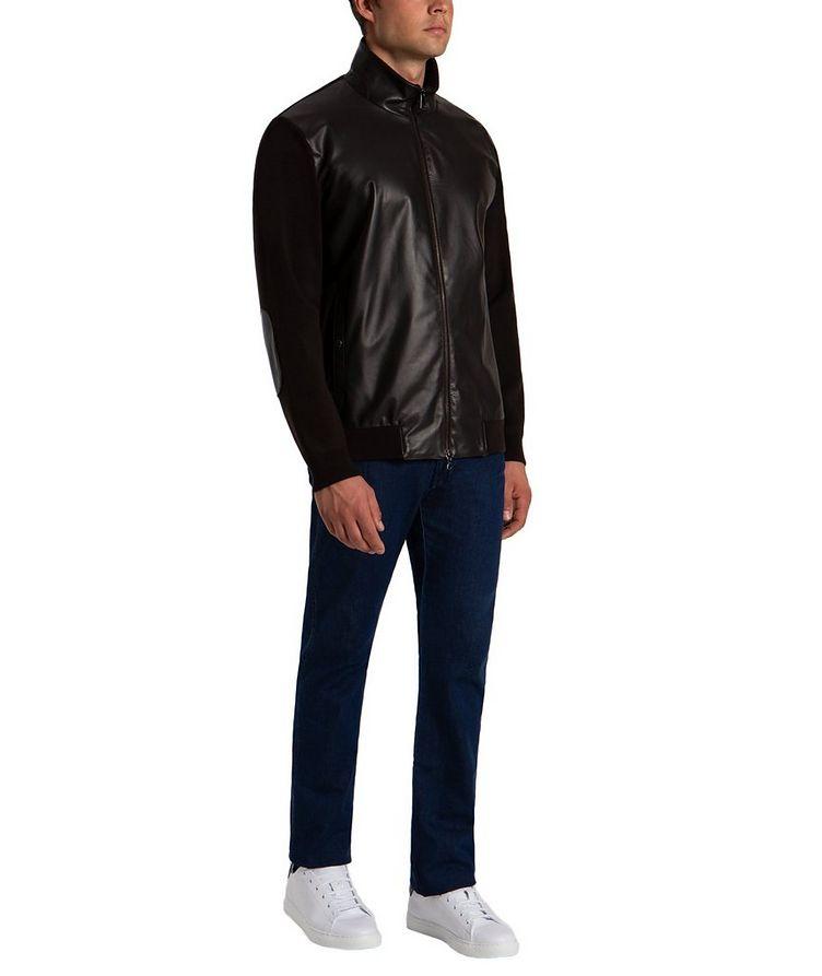 Zip-Up Wool & Lambskin Sweater image 4
