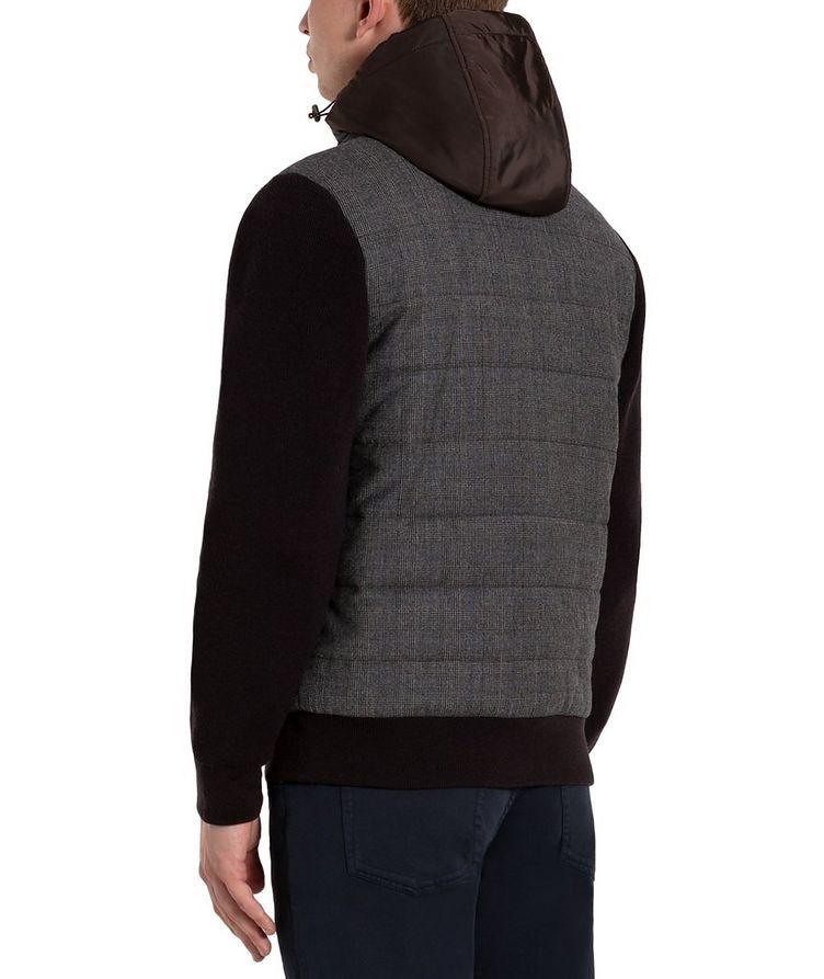 Glen-Checked Hooded Swacket image 1