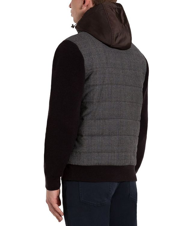 Glen-Checked Hooded Swacket picture 2