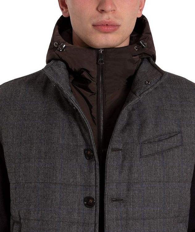 Glen-Checked Hooded Swacket picture 3