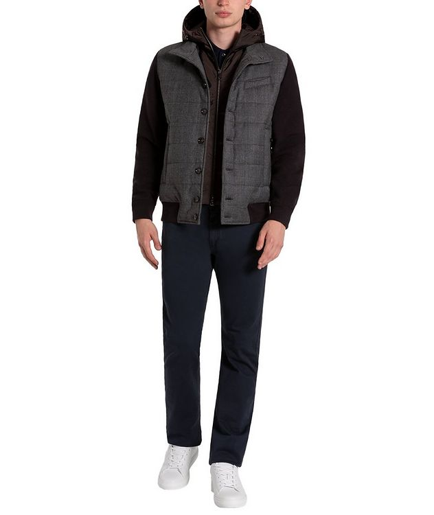 Glen-Checked Hooded Swacket picture 5