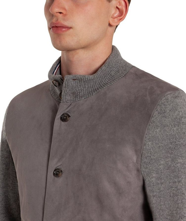 Suede & Wool Cardigan image 2