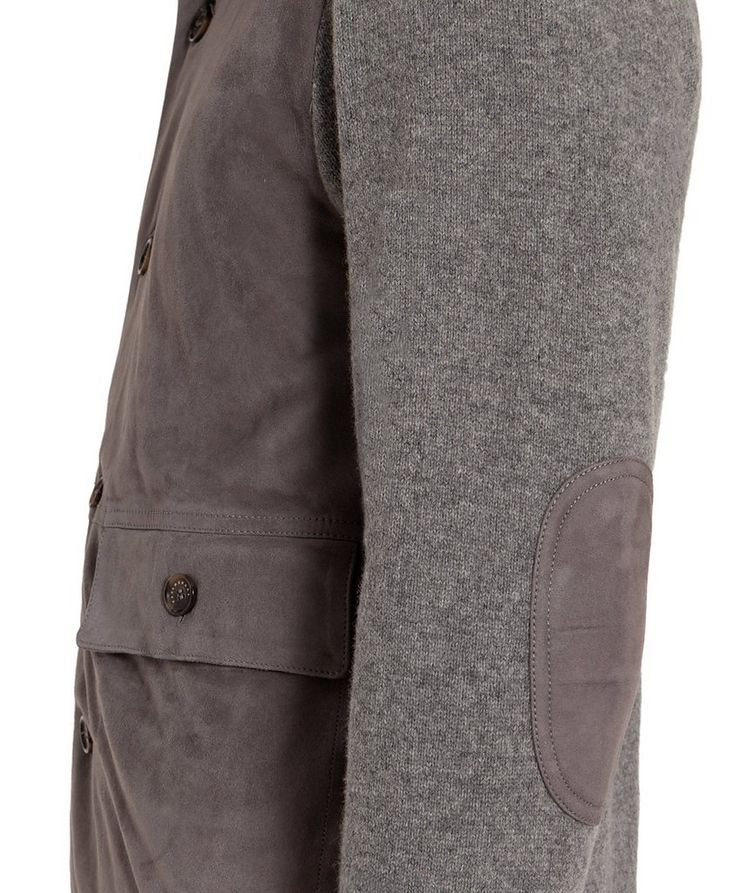 Suede & Wool Cardigan image 3