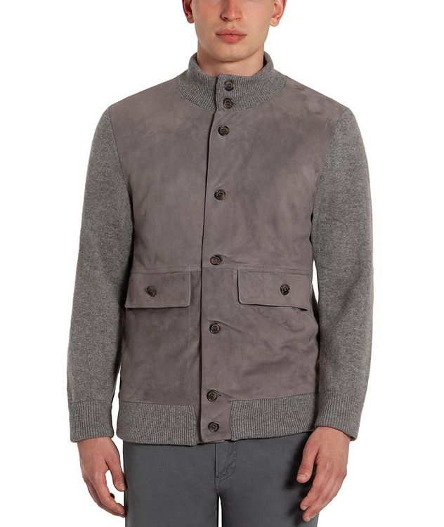 Suede & Wool Cardigan picture 1