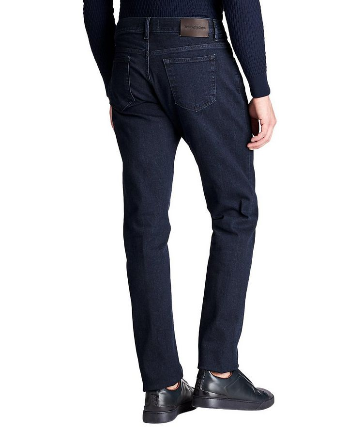 Tailored Fit Stretch Cotton Jeans image 1