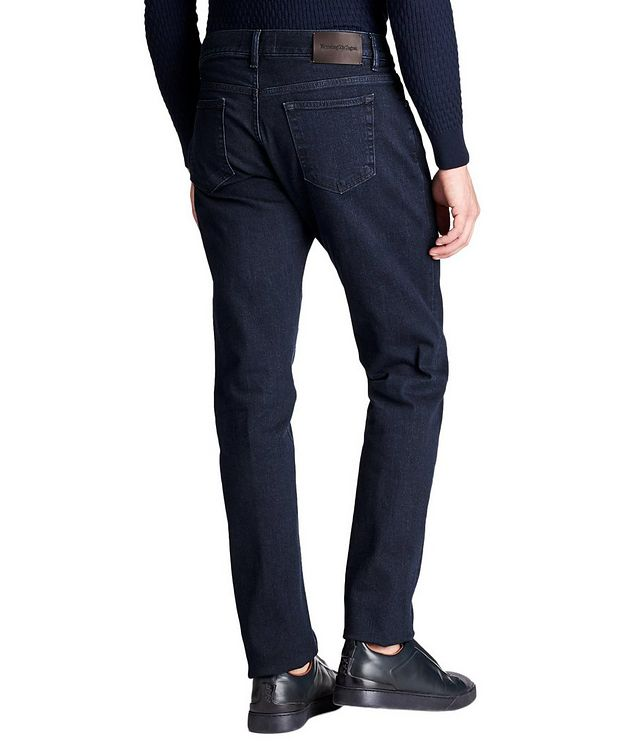 Tailored Fit Stretch Cotton Jeans picture 2