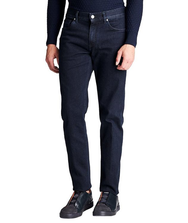 Tailored Fit Stretch Cotton Jeans picture 1