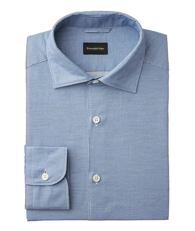Slim Fit Houndstooth-Printed Shirt picture 1
