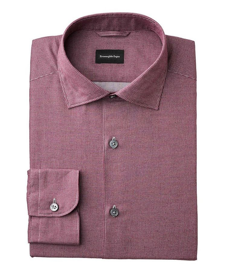Slim Fit Houndstooth-Printed Shirt image 0