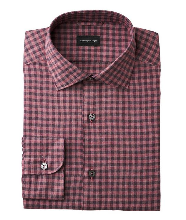 Slim Fit Gingham-Checked Shirt picture 1