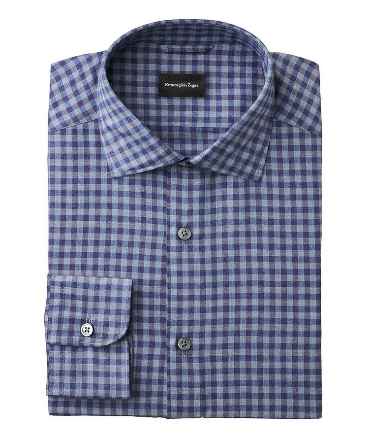 Slim Fit Gingham-Checked Shirt image 0