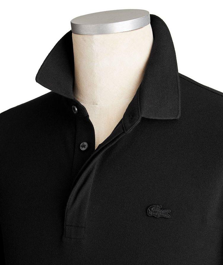Long-Sleeve Stretch-Cotton Piqué Polo image 1