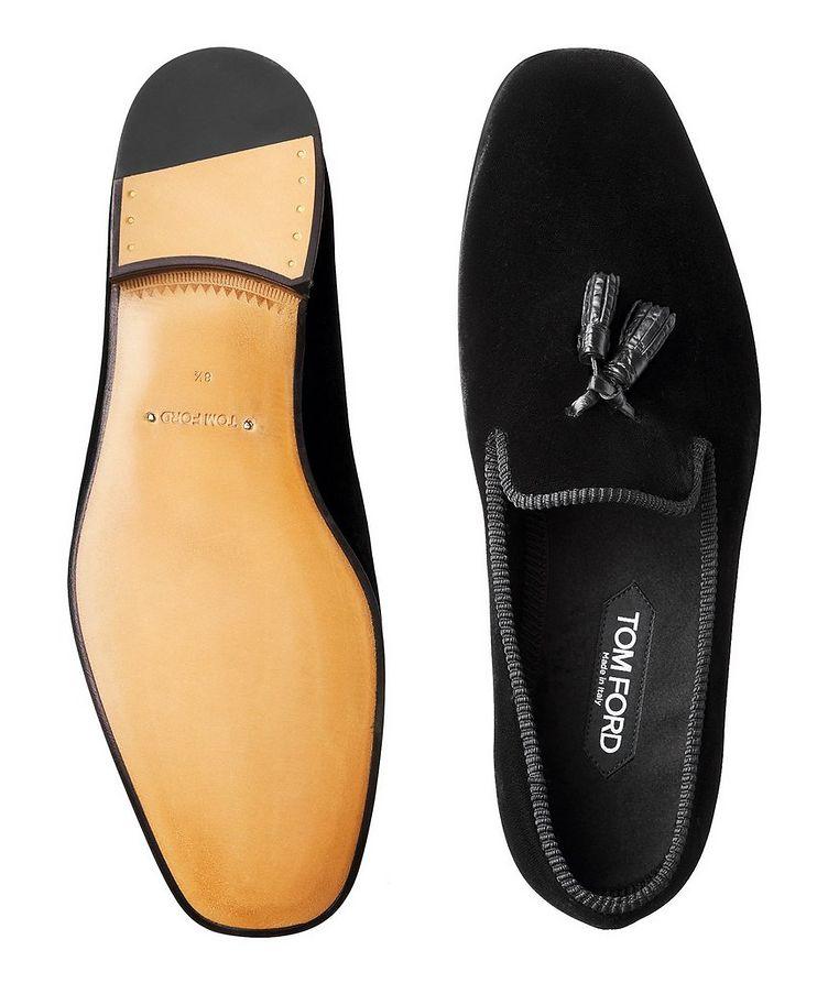 Velvet Tassel Loafers image 2