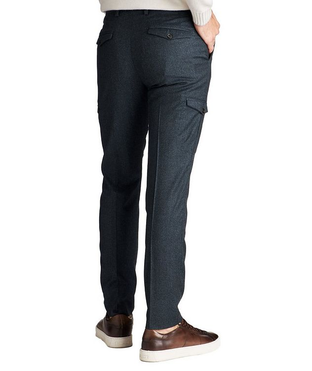 Slim Fit Wool Cargo Dress Pants picture 2