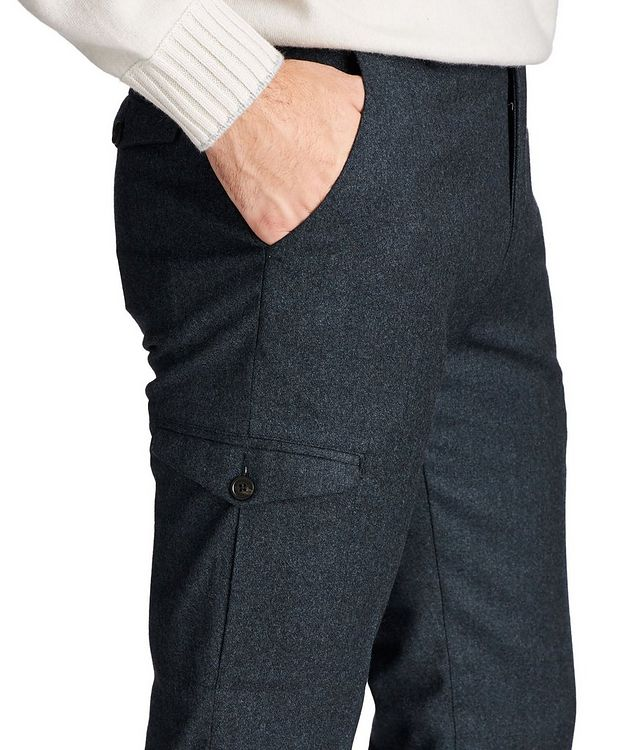 Slim Fit Wool Cargo Dress Pants picture 3