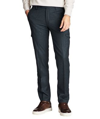 Maurizio Baldassari Slim Fit Wool Cargo Dress Pants