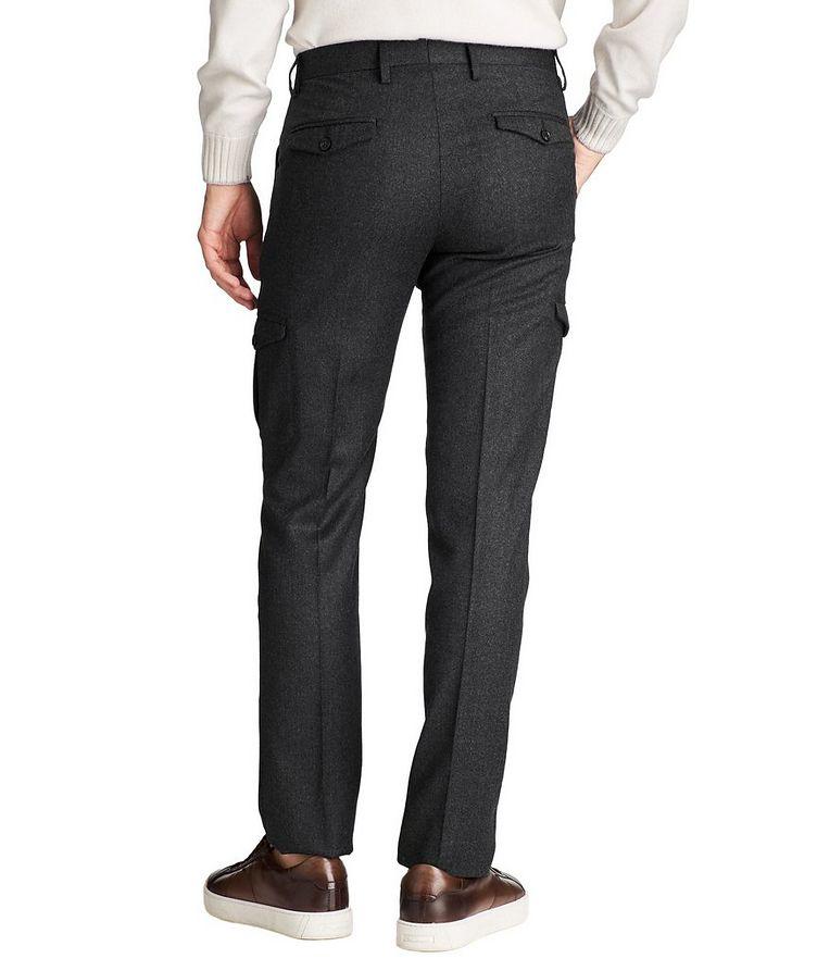 Slim Fit Wool Cargo Dress Pants image 1