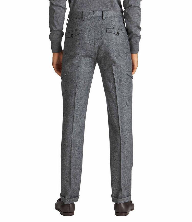 Pantalon habillé en laine à poches cargo image 1