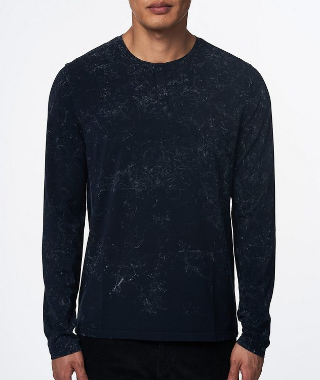 Printed Stretch-Jersey Henley picture 2