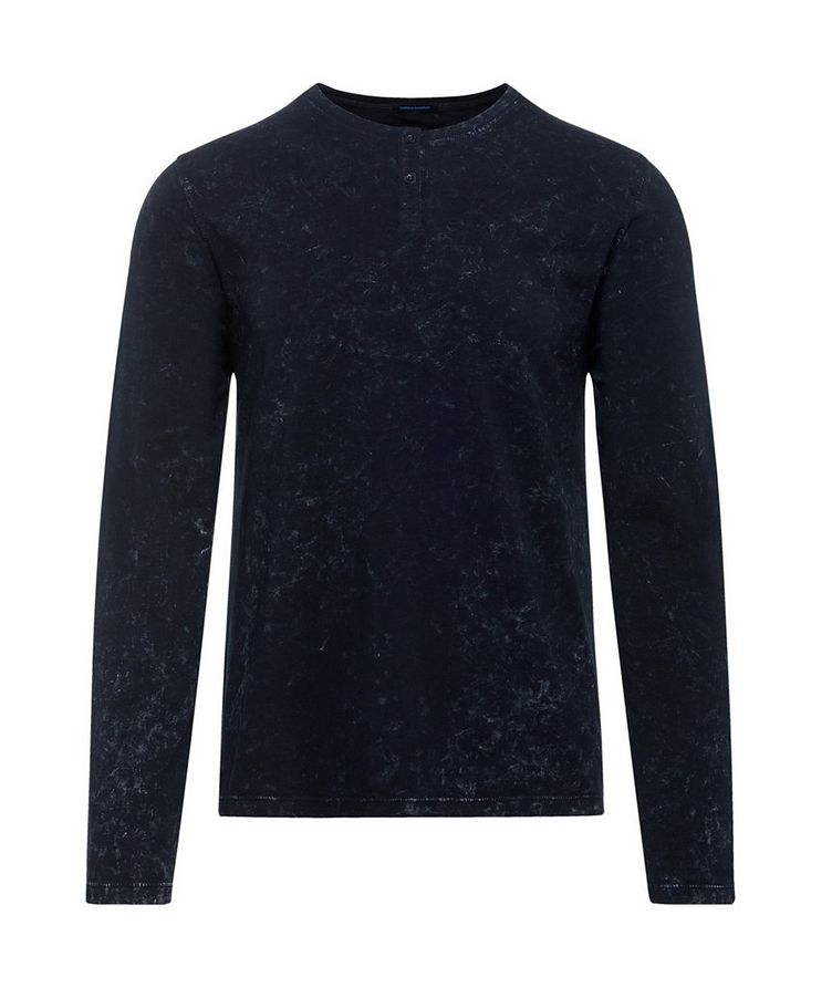 Printed Stretch-Jersey Henley image 0