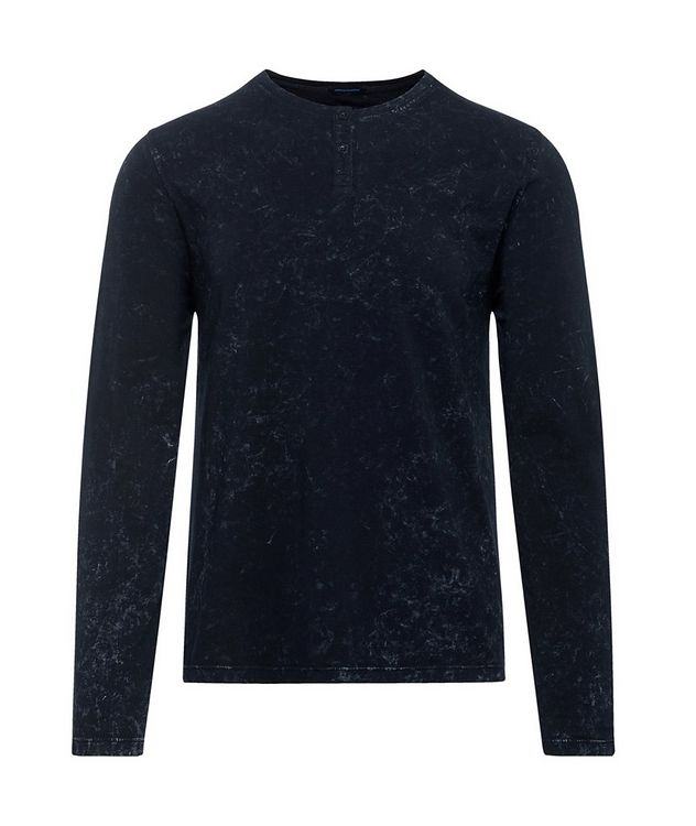 Printed Stretch-Jersey Henley picture 1
