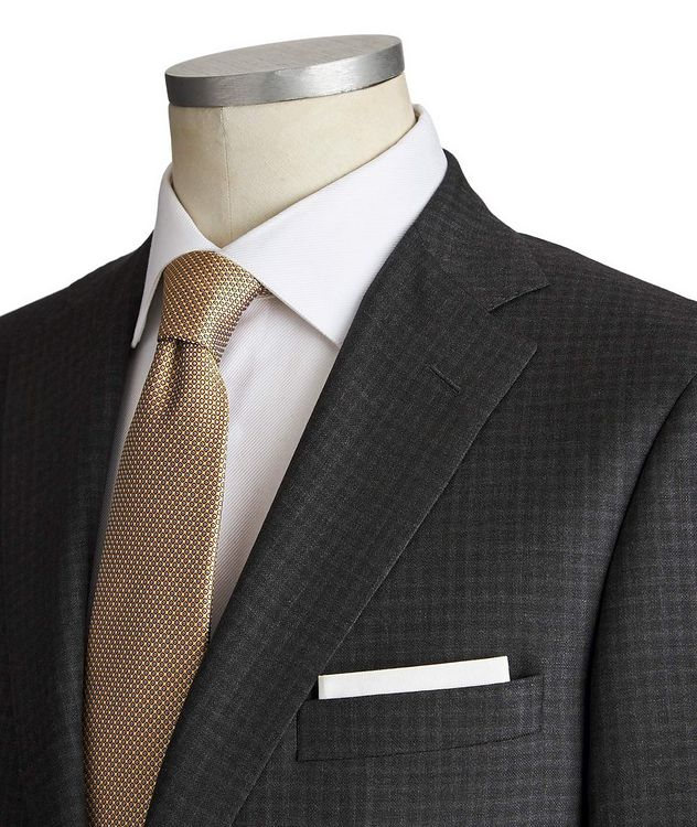 Madison Checkered Wool-Silk Suit picture 2