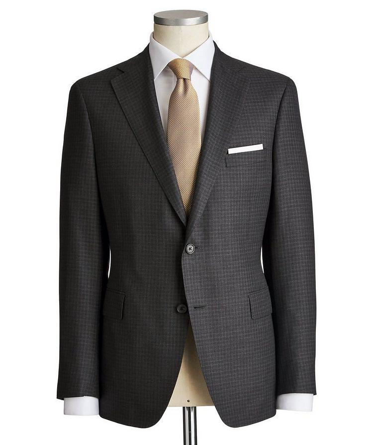 Madison Checkered Wool-Silk Suit image 0